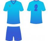 Футбольная форма Titar CoolMax сублимация сине-голубая