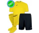 Акция! Комплект футбольной формы Joma Combi(футболка+шорты+гетры) 100052.900 - желто-черная