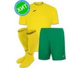 Акция! Комплект футбольной формы Joma Combi(футболка+шорты+гетры) 100052.900 - желто-зеленая