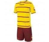 Футбольная форма Givova Kit Caos бордово-желтая KITC41B.0708
