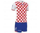 Футбольная форма Givova Kit Competition бело-красная KITC45.1202
