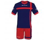 Футбольная форма Givova Kit Croce красно-синяя KITC32.1204