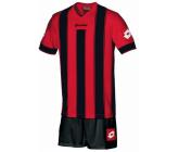 Комплект футбольной формы Lotto JERSEY VERTIGO EVO JR (R3807) FLAME/BLACK(футболка+шорты)