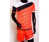 Футбольная форма FB-model:008 кораллово-черная EUROPAW