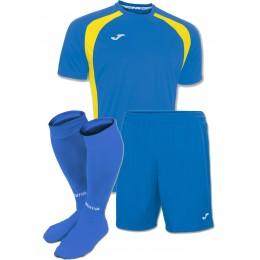 Купить. Акция! Комплект футбольной формы синьо-жовта Joma CHAMPION III  100014.709(футболка+шорты a052fe4d345ff