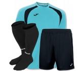 Акция! Комплект футбольной формы бiрюзово-чорна Joma CHAMPION III 100014.011(футболка+шорты+гетры)