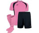 Акция! Комплект футбольной формы рожево-чорна Joma CHAMPION III 100014.031(футболка+шорты+гетры)