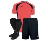 Акция! Комплект футбольной формы бордово-чорна Joma CHAMPION III 100014.041(футболка+шорты+гетры)