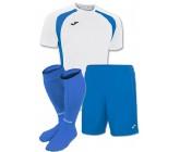 Акция! Комплект футбольной формы бiло-синя Joma CHAMPION III 100014.207(футболка+шорты+гетры)