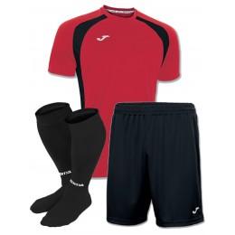 Акция! Комплект футбольной формы червоно-чорна Joma CHAMPION III 100014.601(футболка+шорты+гетры)