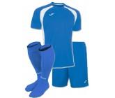 Акция! Комплект футбольной формы синьо-бiла Joma CHAMPION III 100014.702(футболка+шорты+гетры)