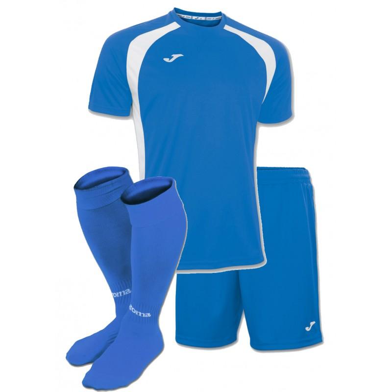 Акция! Комплект футбольной формы синьо-бiла Joma CHAMPION III 100014.702( футболка+шорты 2d09f819555e7