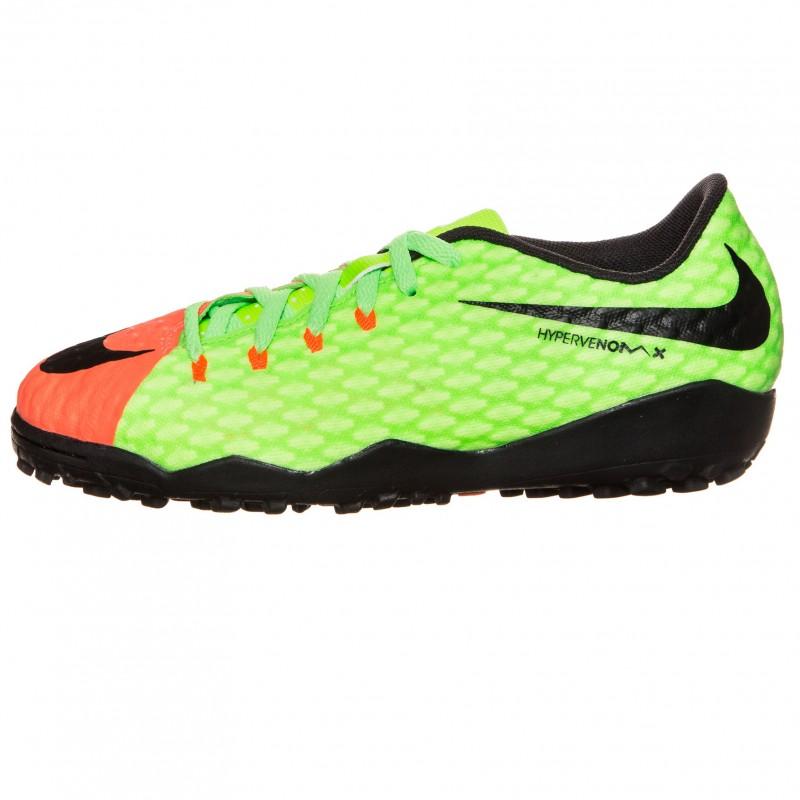 Детские сороконожки Nike JR HypervenomX Phelon III TF красно-зеленые 276173be7df