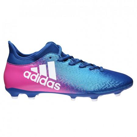 Купить футбольные бутсы Adidas X 16.3 FG голубой розовый недорого в ... 07a78be8a2b40