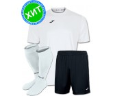 Акция! Комплект футбольной формы Joma Combi(футболка+шорты+гетры) 100052.200.1 - бело-черная
