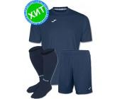 Акция! Комплект футбольной формы Joma Combi(футболка+шорты+гетры) 100052.300 - темно-синяя