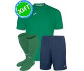 Акция! Комплект футбольной формы Joma Combi(футболка+шорты+гетры) 100052.450.1 - зелено-синяя