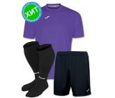 Акция! Комплект футбольной формы Joma Combi(футболка+шорты+гетры) 100052.550 - фиолетовый