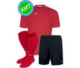 Акция! Комплект футбольной формы Joma Combi(футболка+шорты+гетры) 100052.600.1-красно-черный