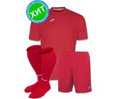 Акция! Комплект футбольной формы Joma Combi(футболка+шорты+гетры) 100052.600 - красный