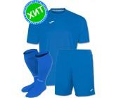 Акция! Комплект футбольной формы Joma Combi(футболка+шорты+гетры) 100052.700 голубая