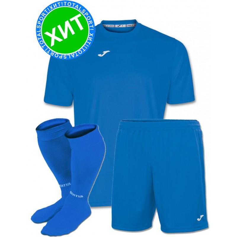 Акция! Комплект футбольной формы Joma Combi(футболка+шорты+гетры)  100052.700 голубая a32c34fda14