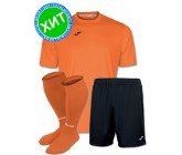 Акция! Комплект футбольной формы Joma Combi(футболка+шорты+гетры) 100052.800 - оранжевый