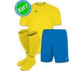 Акция! Комплект футбольной формы Joma Combi(футболка+шорты+гетры) 100052.900 - желто-голубой