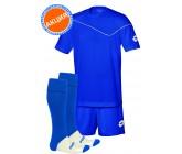 Акция! Комплект футбольной формы (футболка+шорты+гетры) lotto KIT SIGMA blue