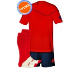 Акция! Комплект футбольной формы (футболка+шорты+гетры) lotto KIT SIGMA red