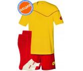 Акция! Комплект футбольной формы (футболка+шорты+гетры)  lotto KIT SIGMA yellow-red