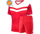 Комплект футбольной формы Swift Romb(футболка+шорты)red