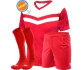 Комплект футбольной формы Swift Romb(футболка+шорты+гетры)red-wh