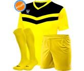 Акция! Комплект футбольной формы Swift Romb(футболка+шорты+гетры)yel
