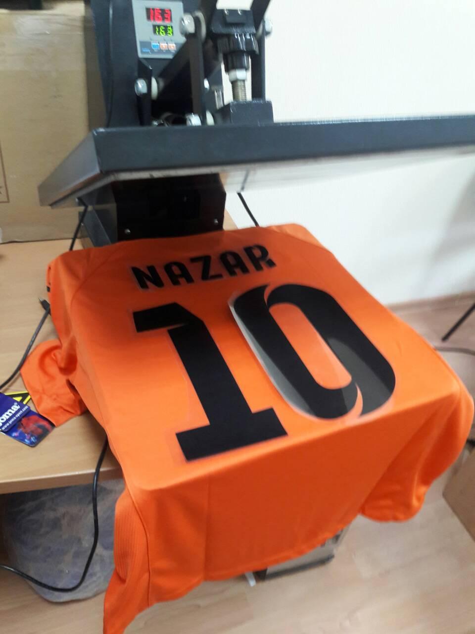 печать номеров на футбольной и спортивной одежде форме фото