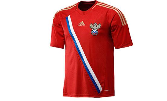 Форма футбольная Россия 2012 Майка, шорты. Реплика